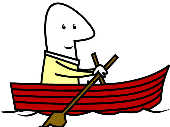 image free stock Yacht clipart charter boat. Canoe paddle rower free