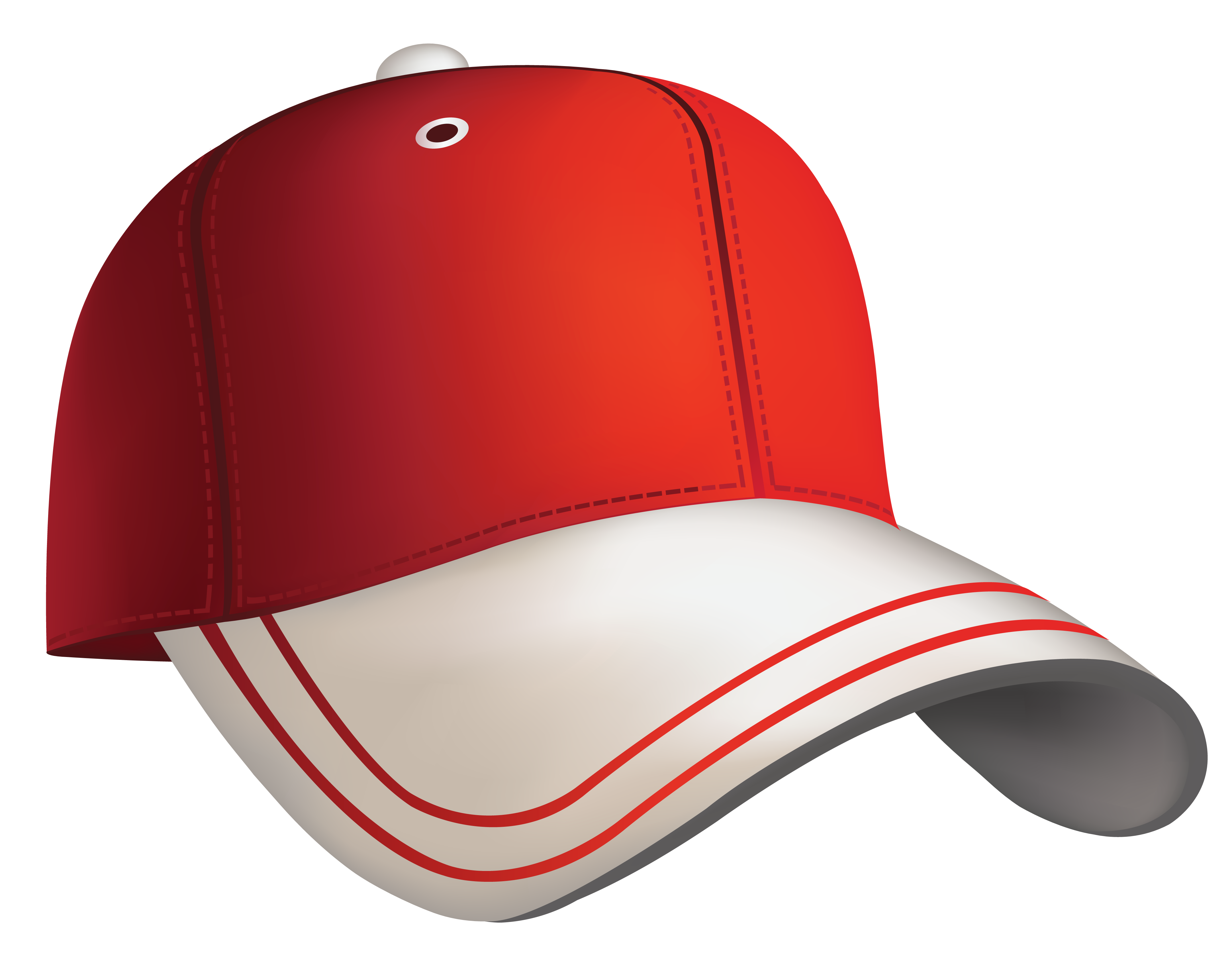clipart black and white library Cap clipart. Red baseball