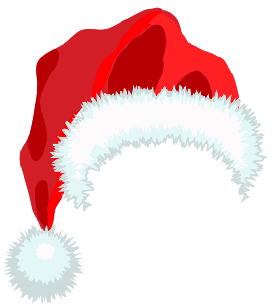 picture black and white Santa Hat PNG Clipart
