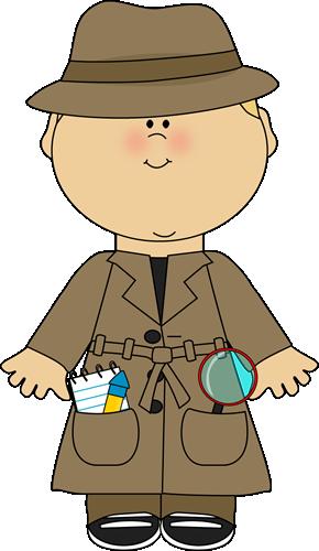 vector transparent stock Boy Detective