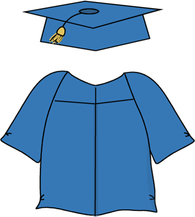 clipart freeuse stock Dress transparent graduation. Cap and gown clipart