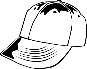 png library download Baseball b and w. Cap clipart sketches.