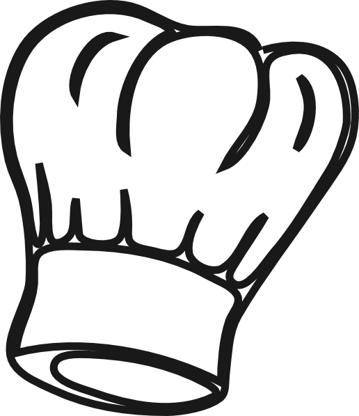 svg freeuse stock Chef drawing at getdrawings. Hat clipart black and white