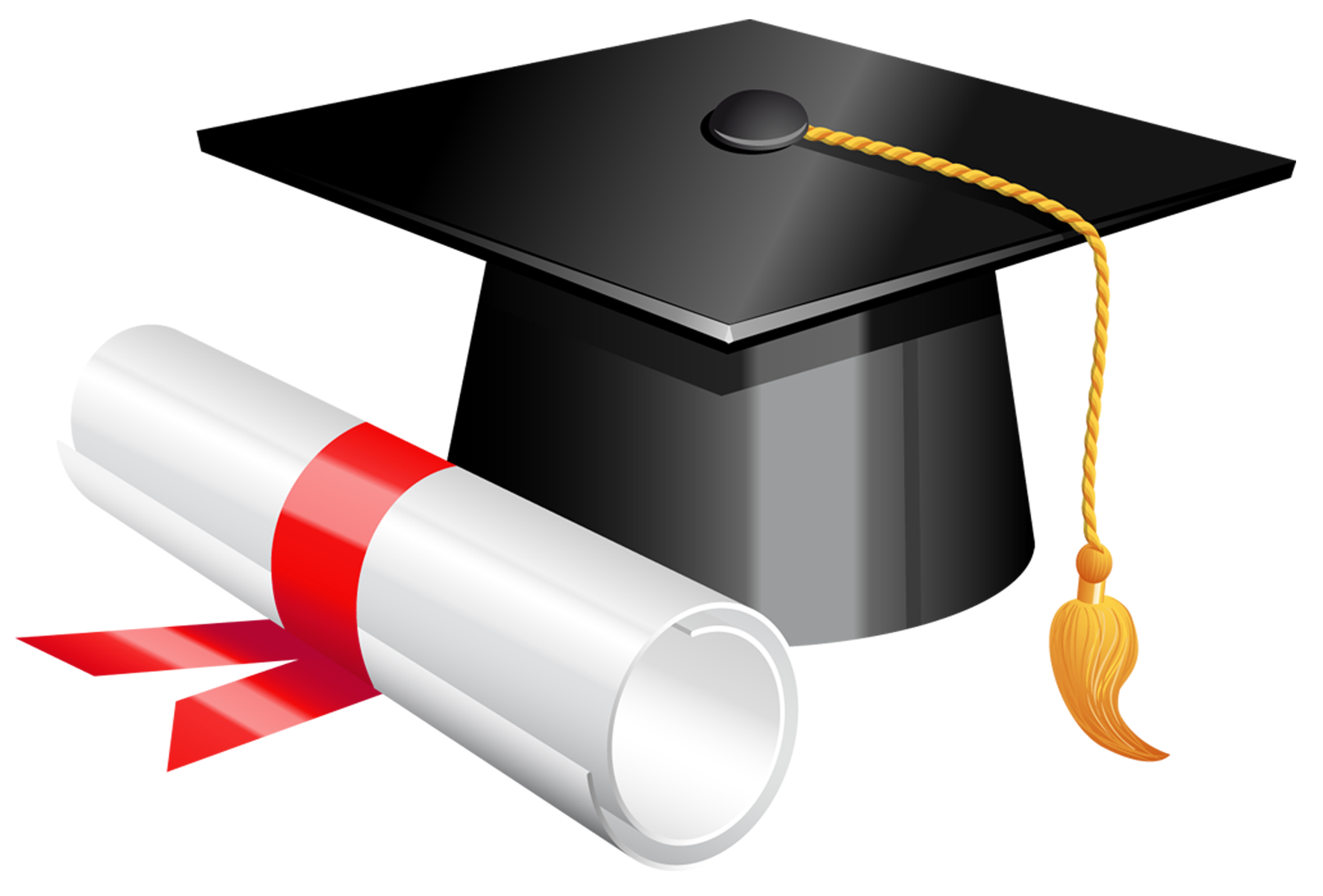 vector free Graduation Cap and Diploma PNG Clipart Picture