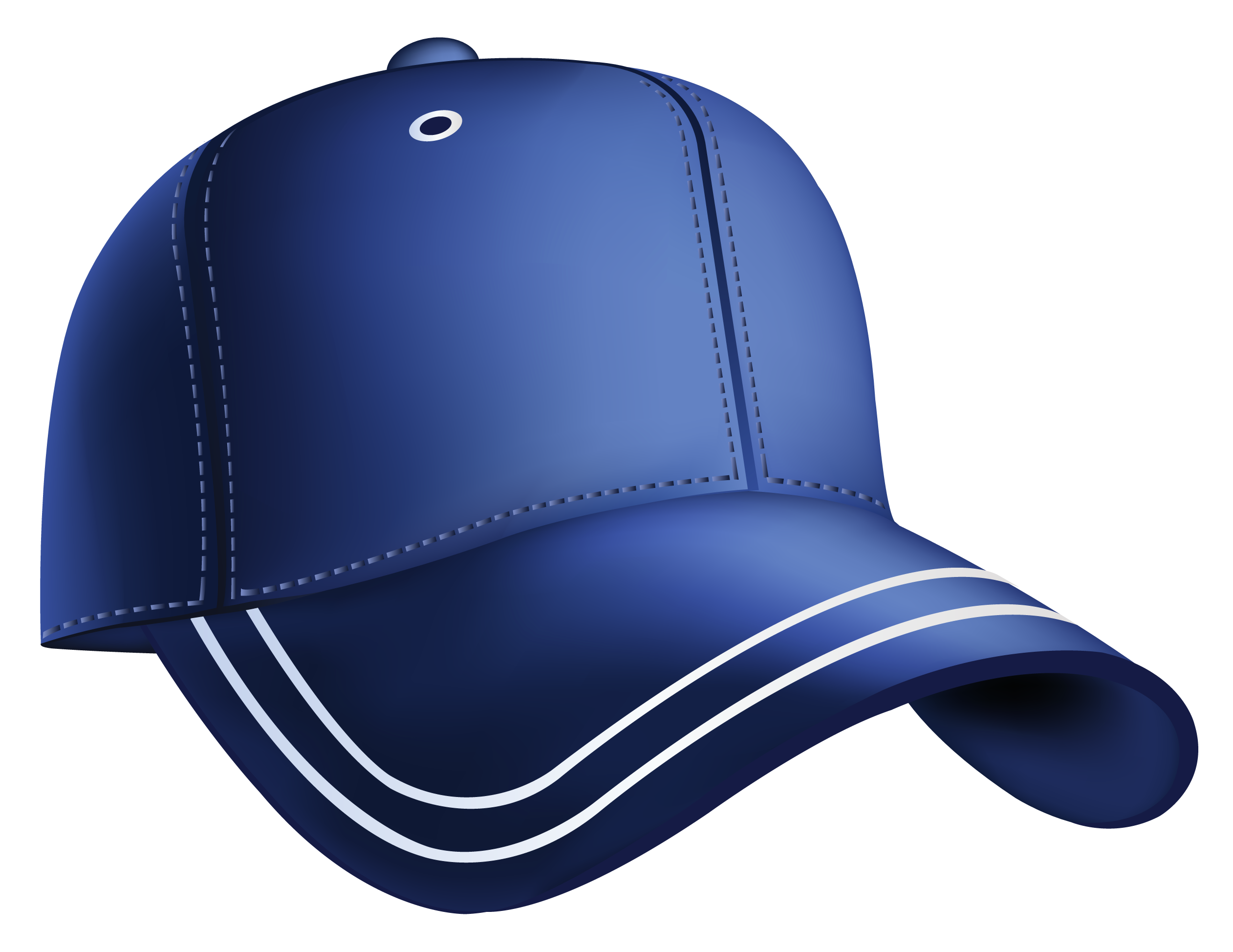 banner freeuse library Blue Baseball Cap Clipart