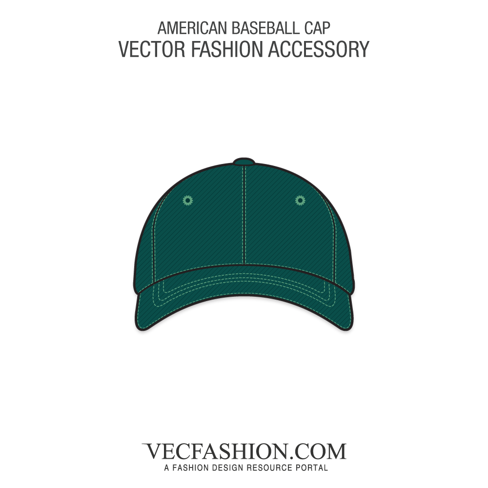 clipart royalty free stock Vector clothing fashion accessory. American baseball cap template