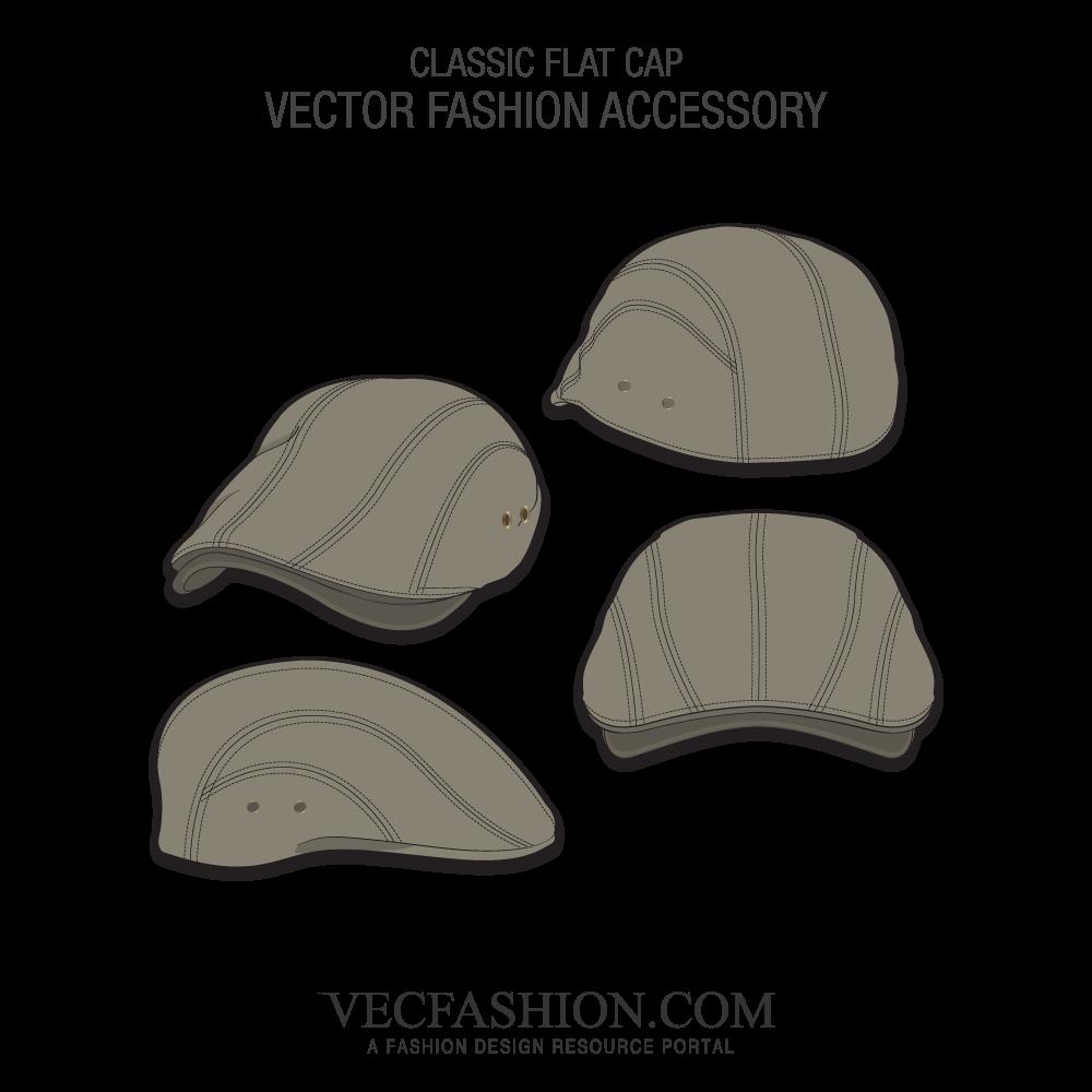 clip free Classic Flat Cap Vector