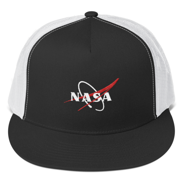 clip art library library Shop NASA Vector Logo Trucker Cap
