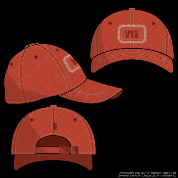 graphic free library Baseball cap template flat. Snapback vector