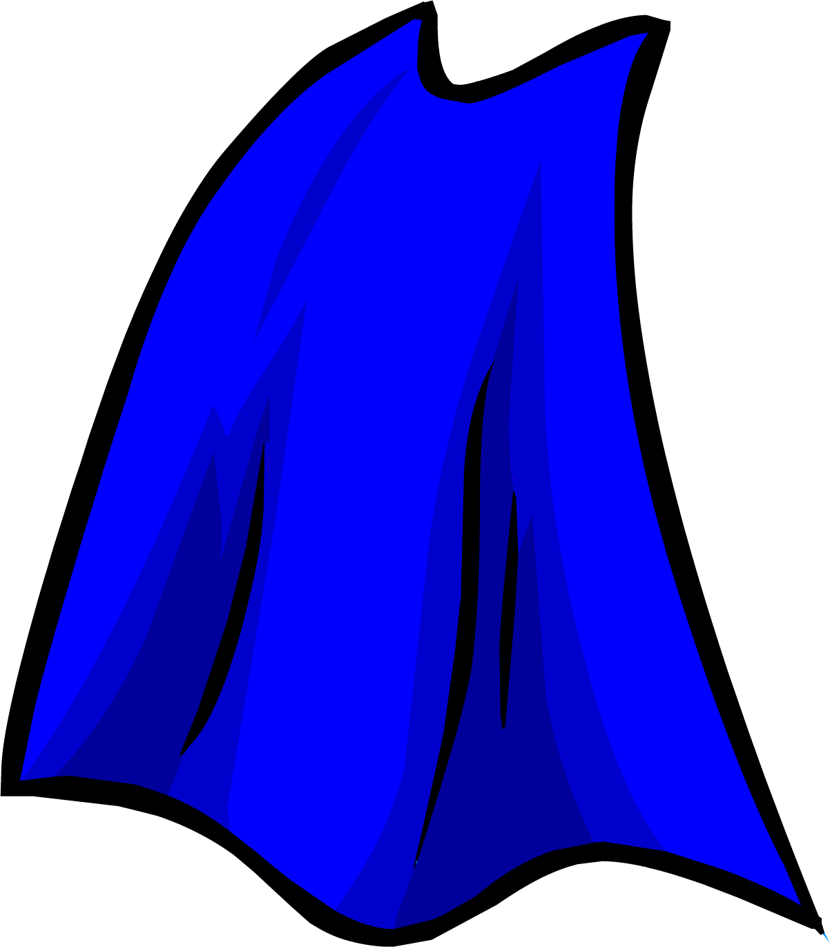 clipart free download Superhero cape clipart black and white. Blue club penguin rewritten