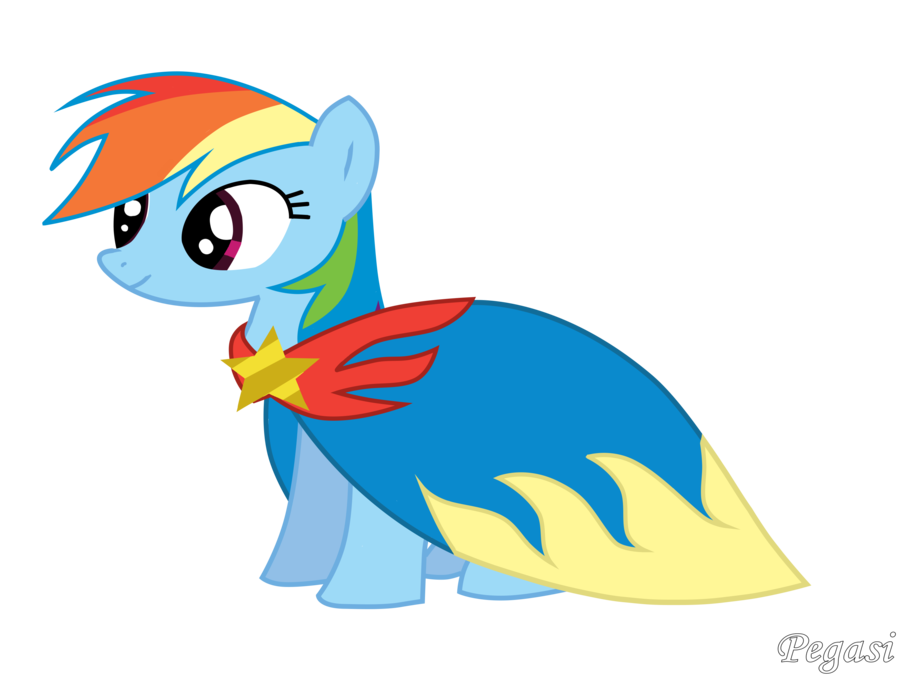 picture transparent download Raindow Dash With Cape by Pegasi