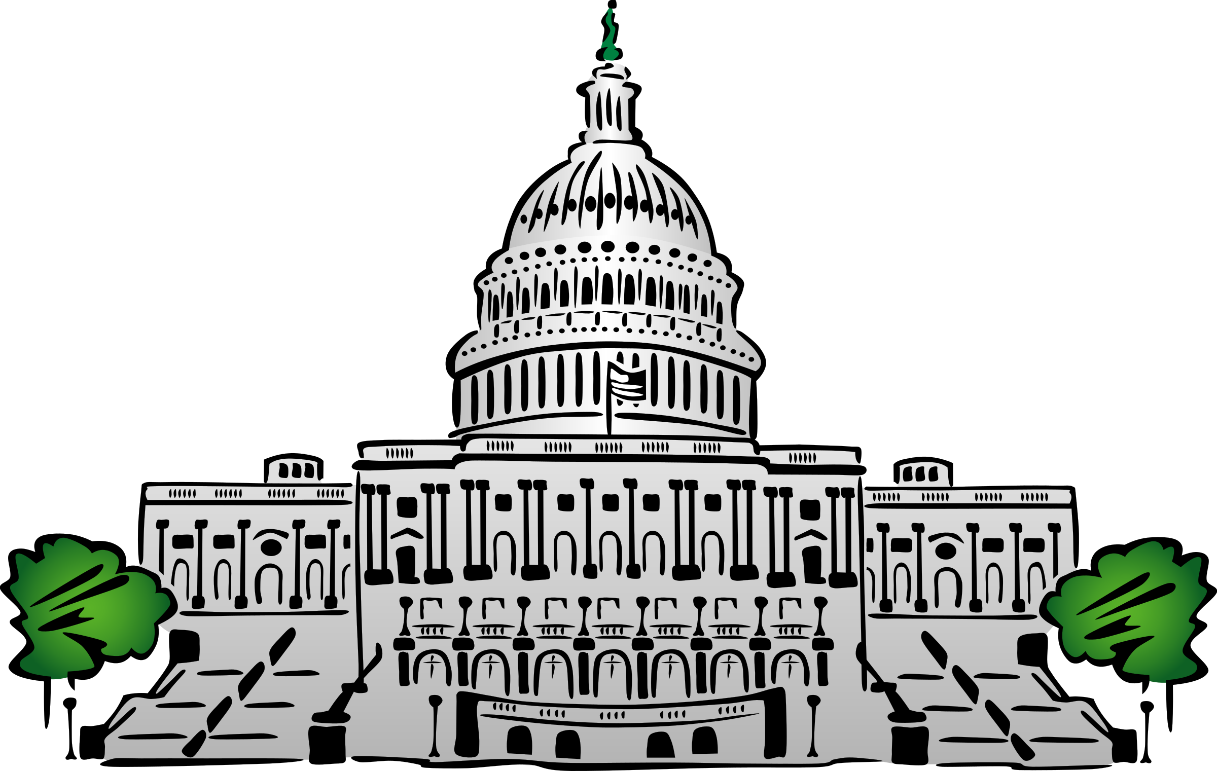vector royalty free library Us building big image. Capitol clipart.