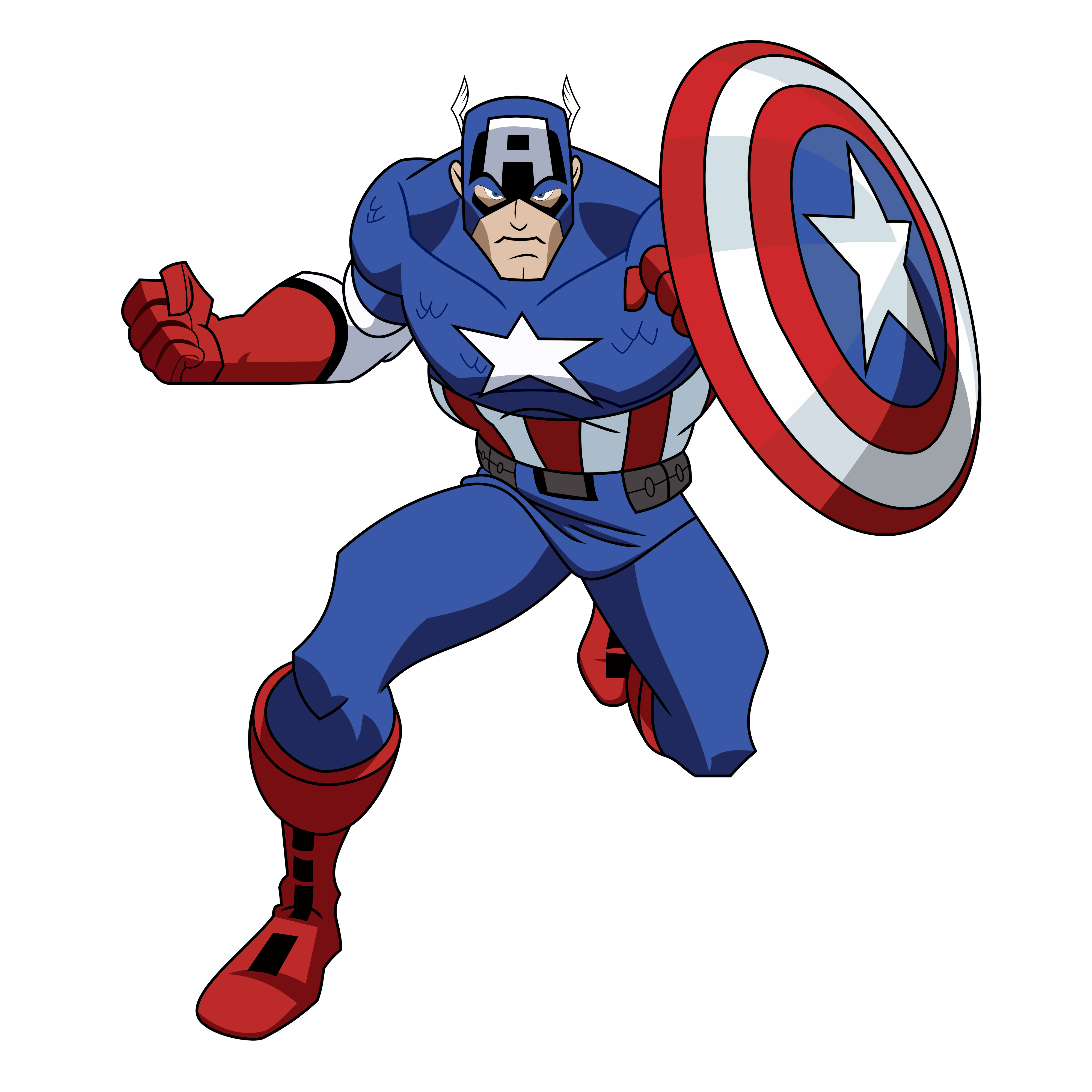 clip art royalty free library Captain America Clipart