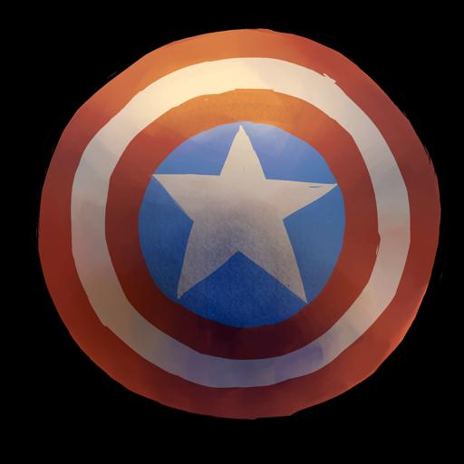 picture transparent Captain America Shield Watercolor Icon