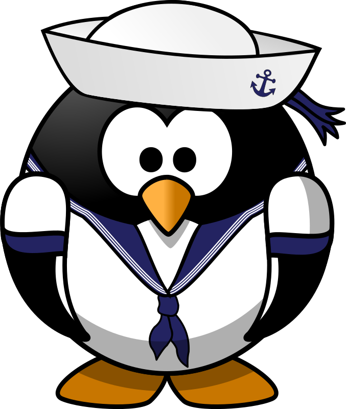 jpg library Captain clipart. Sailor penguin medium image