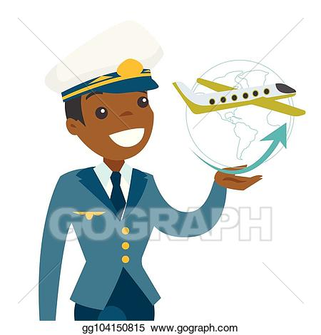 image library library Vector art in pilot. Captain clipart airplane.