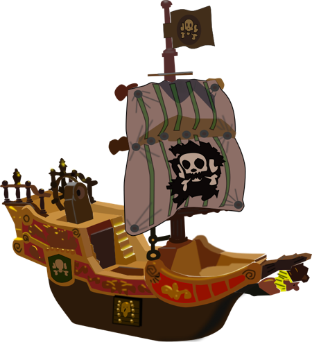 svg transparent stock Free Pirate Ship Clipart