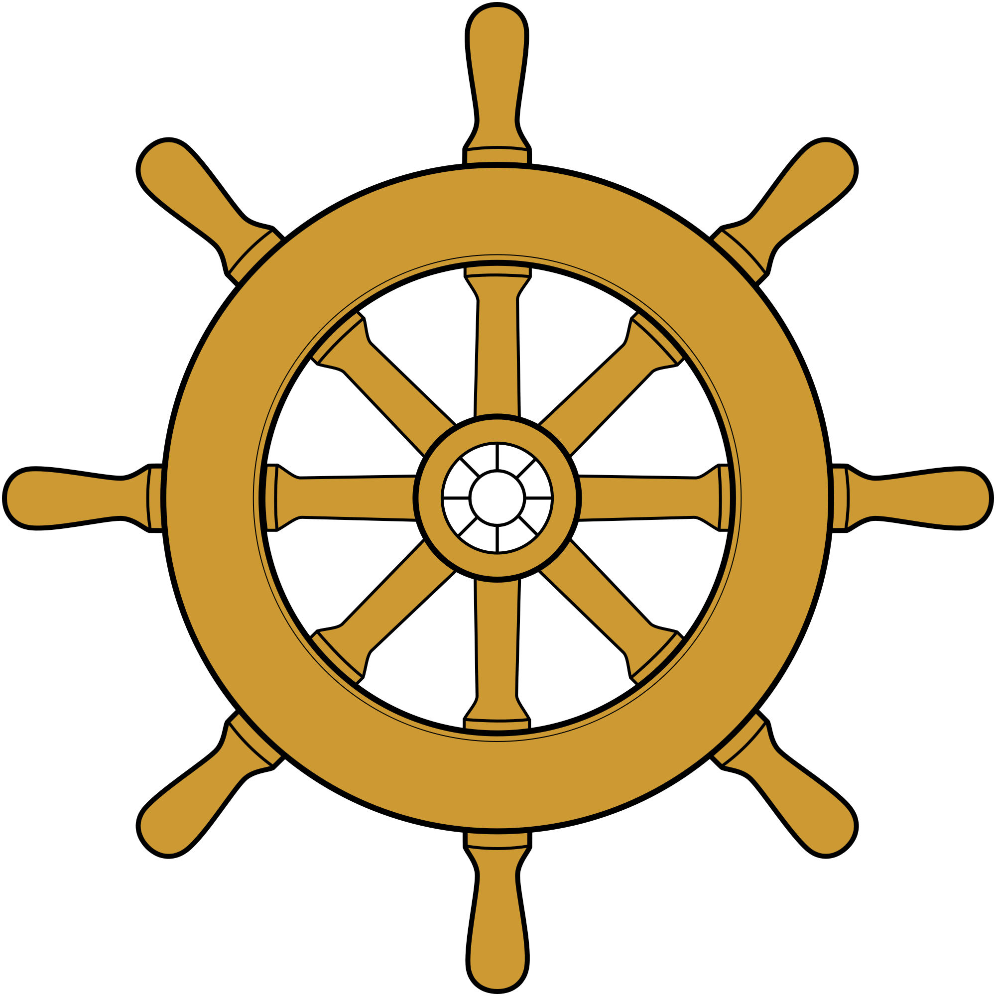 banner freeuse download Boat steering wheel clipart. File ship svg wikimedia