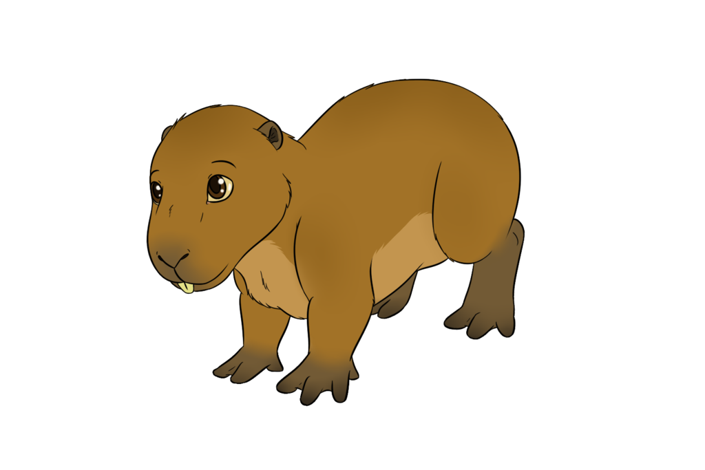image freeuse download Capybara by Michiko