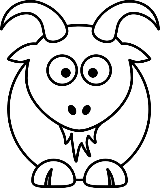 vector freeuse Lemmling Cartoon Goat Black