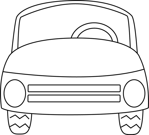 free library Cars clipart black and white. Car clip art panda