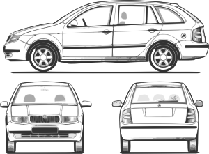freeuse stock Car clipart front. Fabia clip art at.
