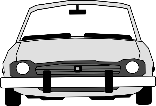 png library stock Car clipart front. View with extended windshield.