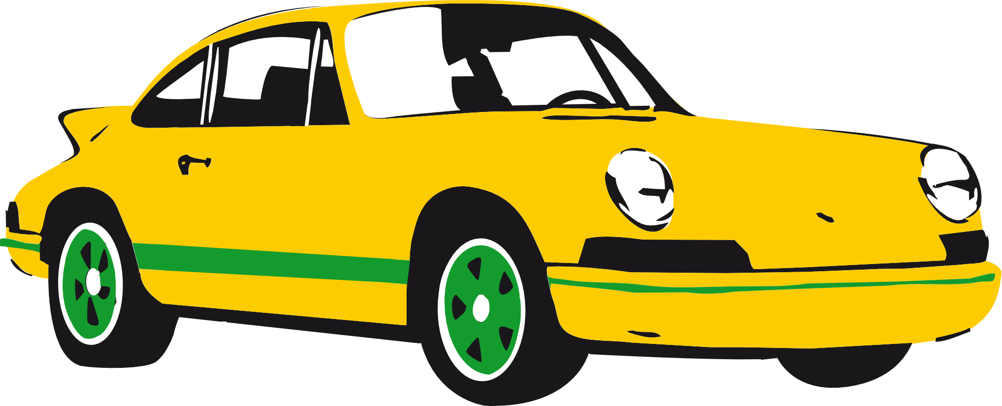 clip transparent stock Clip art sport panda. Car clipart yellow.