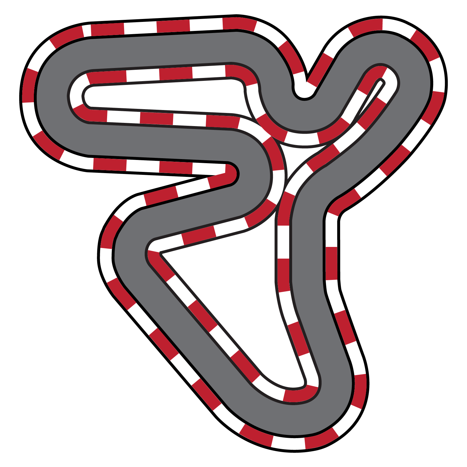 clip art transparent stock race track clipart #66929739