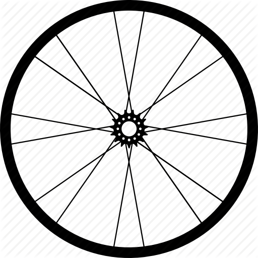 svg black and white stock Bike Wheel Drawing at GetDrawings