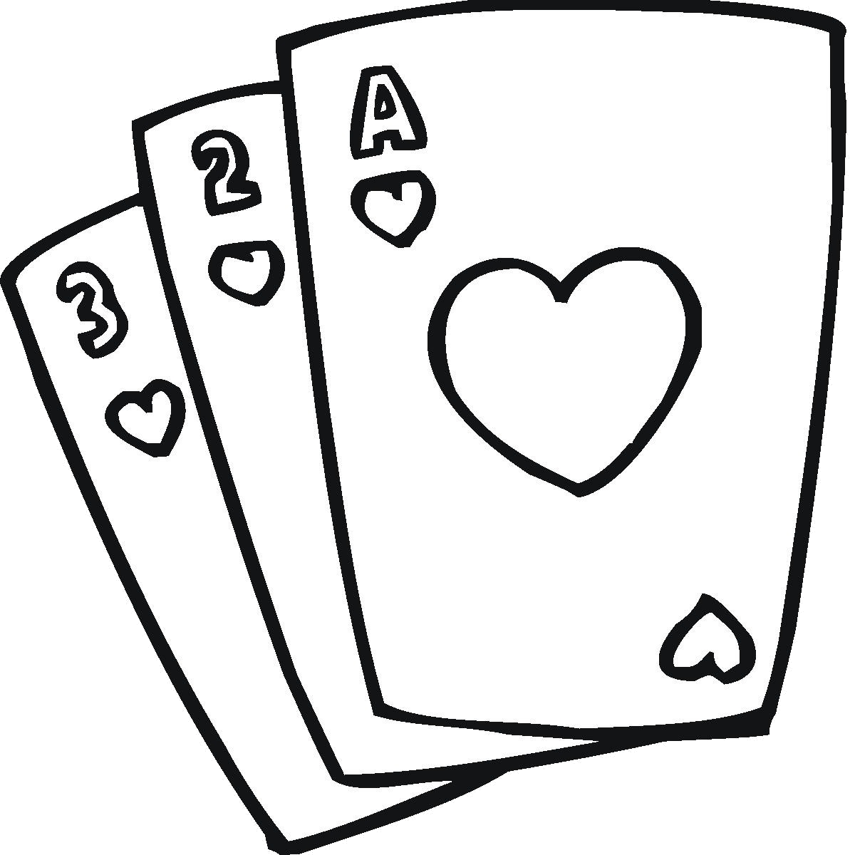 picture library Card clipart black and white. Playing cards collection of.