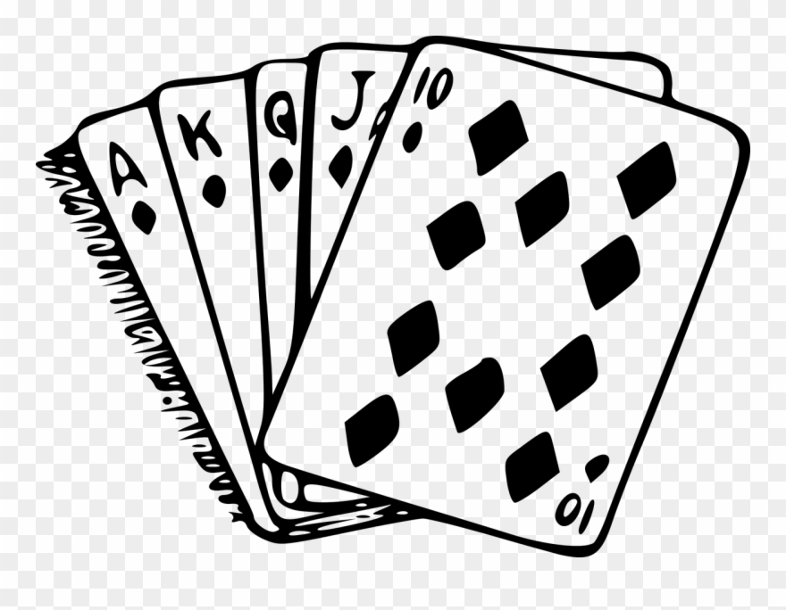 clip freeuse library Cards diamond diamonds poker. Card clipart black and white.