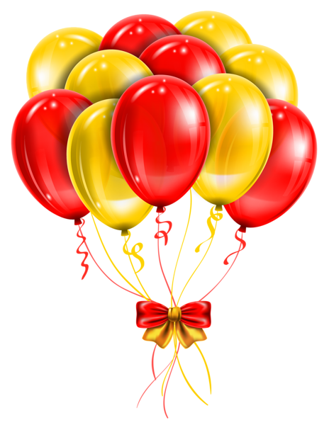 jpg free stock Transparent red yellow balloons. Card clipart coloured paper.