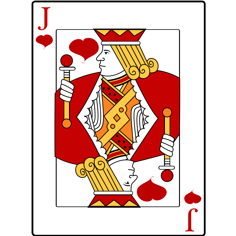 picture royalty free Cards clipart tournament. Playing free jack of.