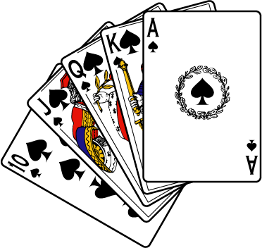 clipart royalty free Cards clipart royal flush. Playing card graphics free.