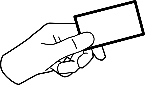 banner Hand With Card clip art