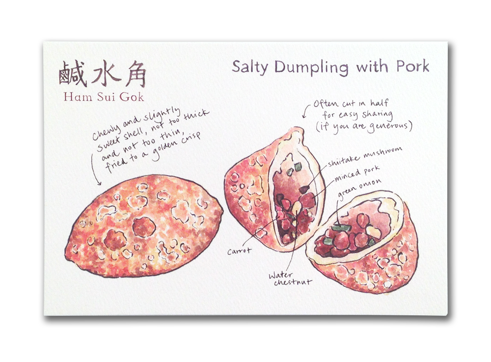 png freeuse library Dim sum post card. Dumpling drawing water chestnut