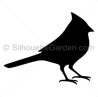 royalty free stock Cardinal clipart. Silhouette clip art download.