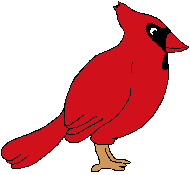 clipart royalty free library Northern bird . Cardinal clipart