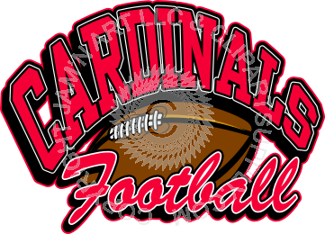 vector stock Cardinals with ball . Cardinal clipart cardinal football.