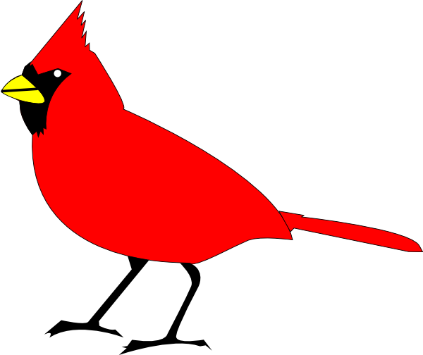jpg freeuse library Free Clip art vector design of Cardinal Bird SVG has been published