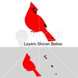 stock Cardinal svg. Red .