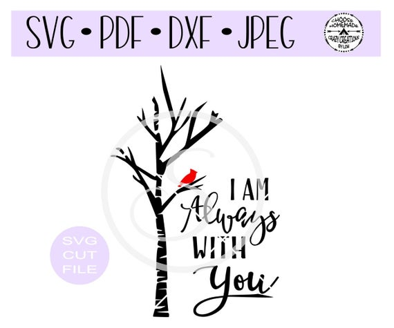 clip black and white stock I am always with. Cardinal svg.