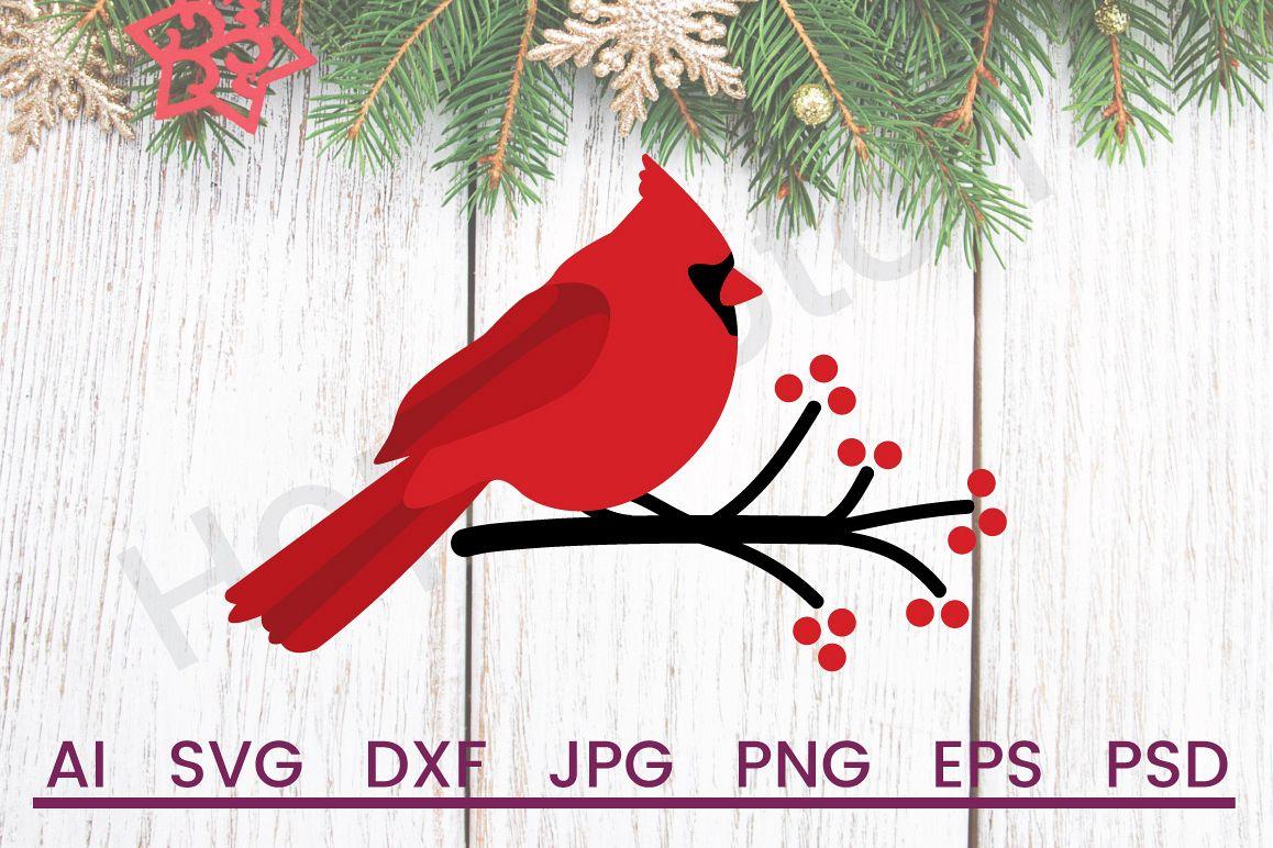image freeuse Cardinal svg. Bird dxf file cuttable.
