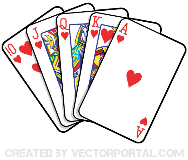 vector Cards clipart. Playing vector art games