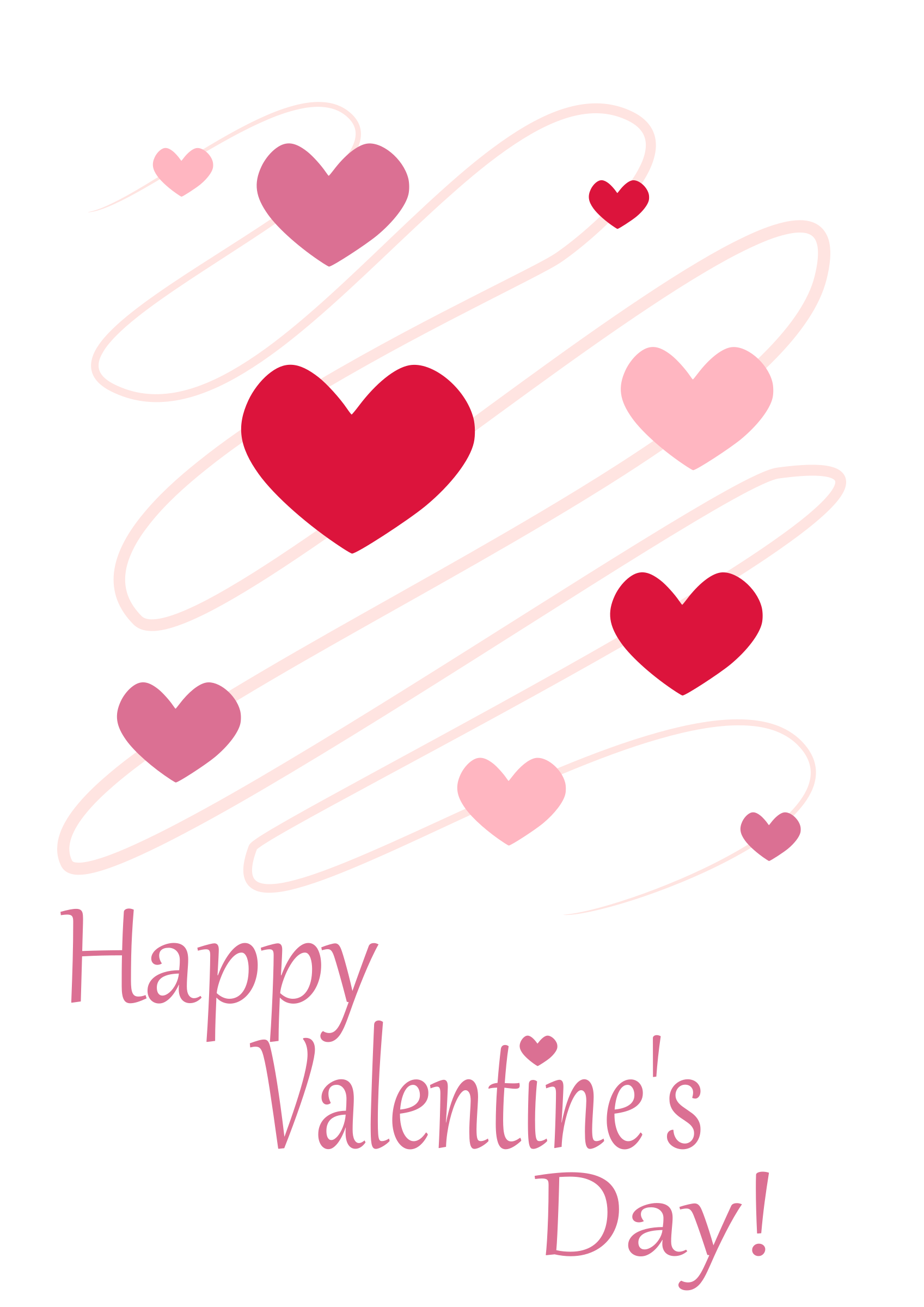 clip art royalty free download Clipart heart card big. Valentine vector vintage