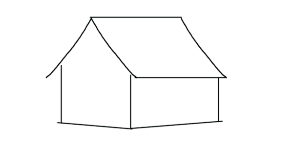 vector free How to Draw a House