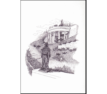 png freeuse stock Drawing reflections pencil. Greeting cards drawings peaceful