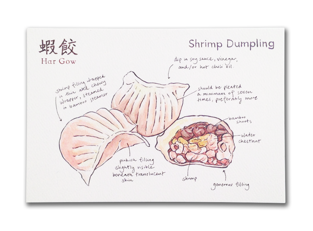 image library Dumpling drawing pork bun. Toronto post card set