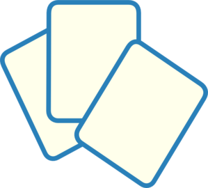 clipart black and white stock Card Deck Blue Clip Art at Clker